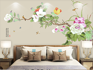 Villa Interior Wall Decoration Project